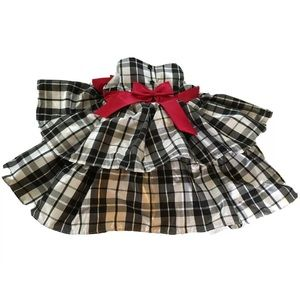 Baby Party Dress 12m Metalic Polyester & Satin Bow